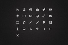 Iconset for a menu