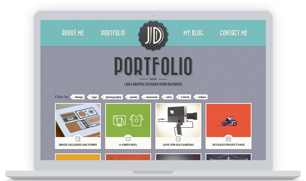 Retro Portfolio screenshot